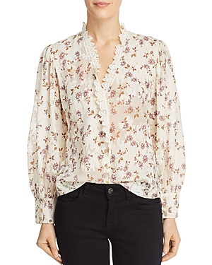 Rebecca Taylor Kyla Embroidered Floral Top