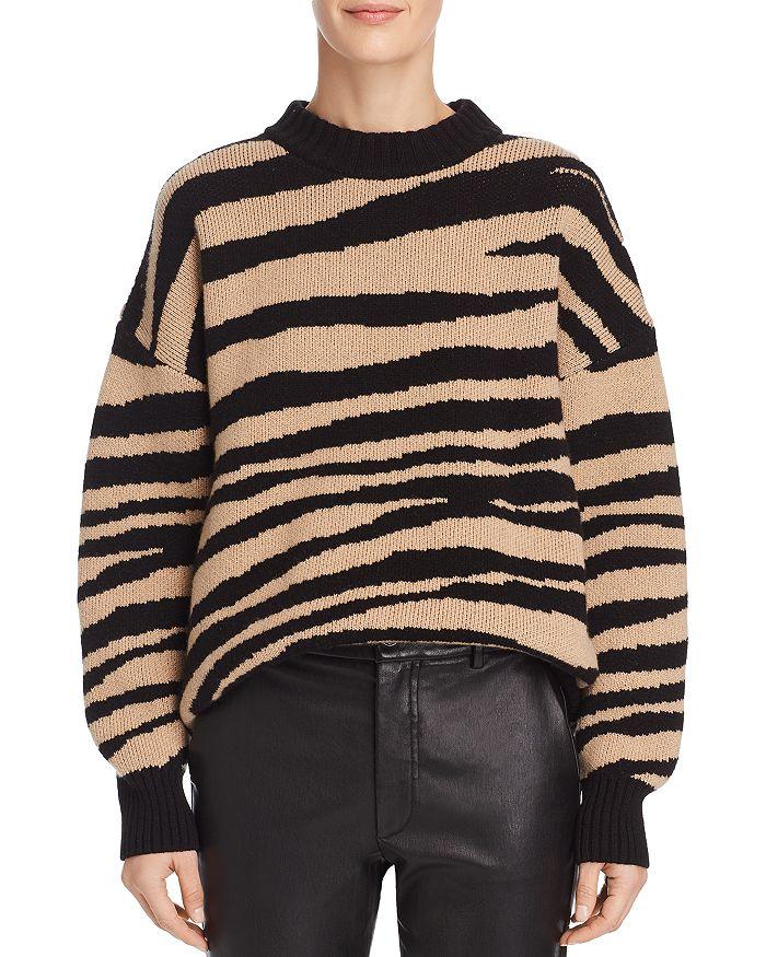 Anine Bing - Cheyenne Zebra-Print Cashmere Sweater 235bf59b7