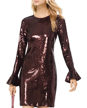 MICHAEL Michael Kors - Sequined Flare Cuff Dress