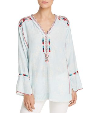 Johnny Was Moby Printed Gauze Blouse