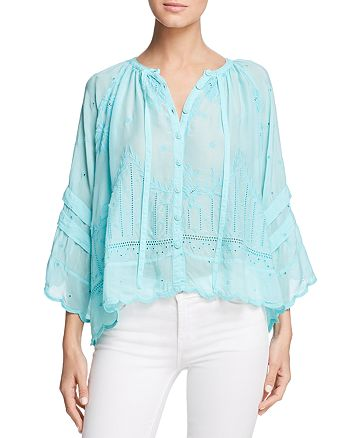 d5f806c5872a Johnny Was Lucca Cropped Peasant Top | Bloomingdale's