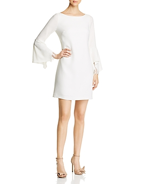 Elie Tahari DORI FLUTTER SLEEVE DRESS