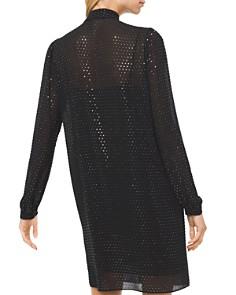 MICHAEL Michael Kors - Embellished Georgette Tie-Neck Shirt Dress