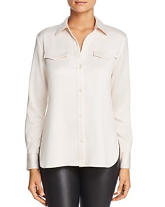 Lyssé - Brinkley Satin Button-Down Top