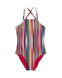 PilyQ - Girls' Reversible Rainbow One-Piece Swimsuit - Little Kid, Big Kid