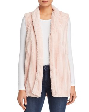 B COLLECTION BY BOBEAU B Collection By Bobeau Faux Fur Vest in Pink