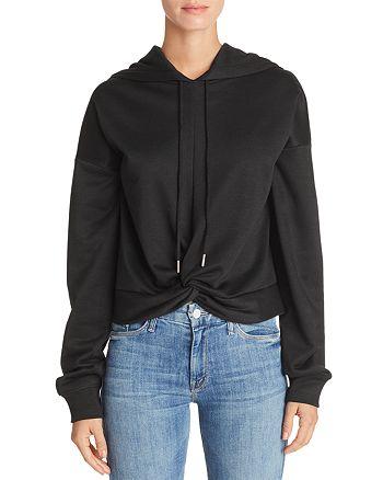 AQUA - Twist-Front Hooded Sweatshirt - 100% Exclusive