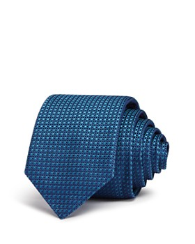 HUGO - Square-Pattern Silk Skinny Tie