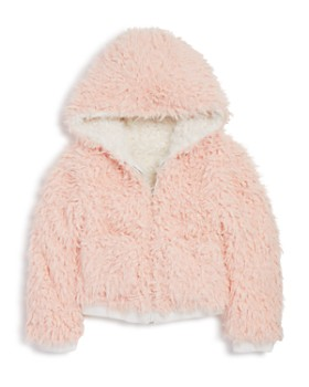 Bardot Junior - Girls' Reversible Sherpa Zip Hoodie Jacket - Big Kid