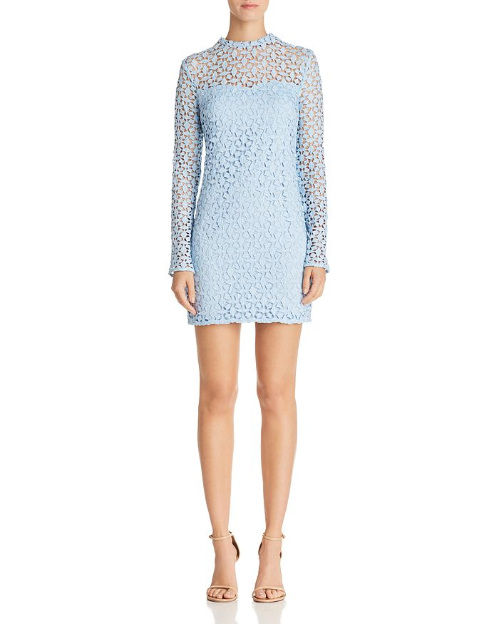 AQUA - Geometric Lace Sheath Dress - 100% Exclusive
