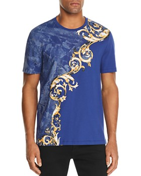 Versace Collection - Marble & Flourish-Print Graphic Tee