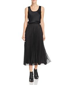 Anine Bing - Lovisa Pleated Metallic Midi Skirt
