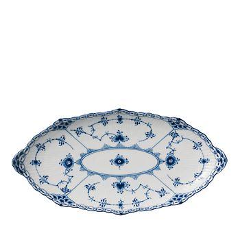 Royal Copenhagen - Blue Fluted Half Lace Oval Platter