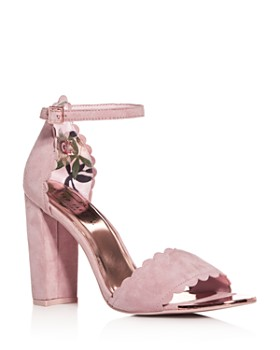 4decba87a4f9ac Ted Baker - Women s Raidha Scalloped High Block-Heel Sandals ...