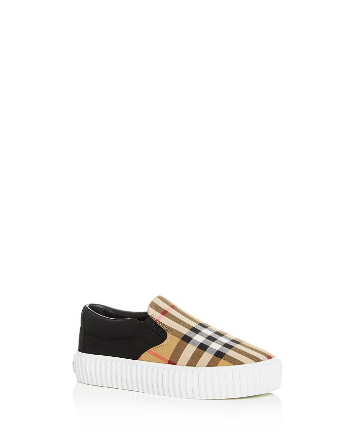 Burberry - Unisex Erwin Vintage Check Slip-On Platform Sneakers - Toddler, Little Kid