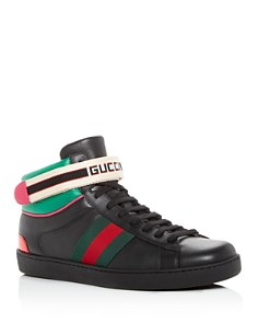 Gucci - Men's Stripe Leather High-Top Sneakers