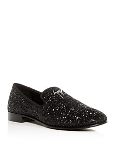 Giuseppe Zanotti - Men's Glitter Smoking Slippers