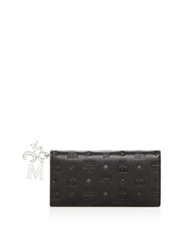 MCM - Klara Logo Monogram Leather Continental Wallet