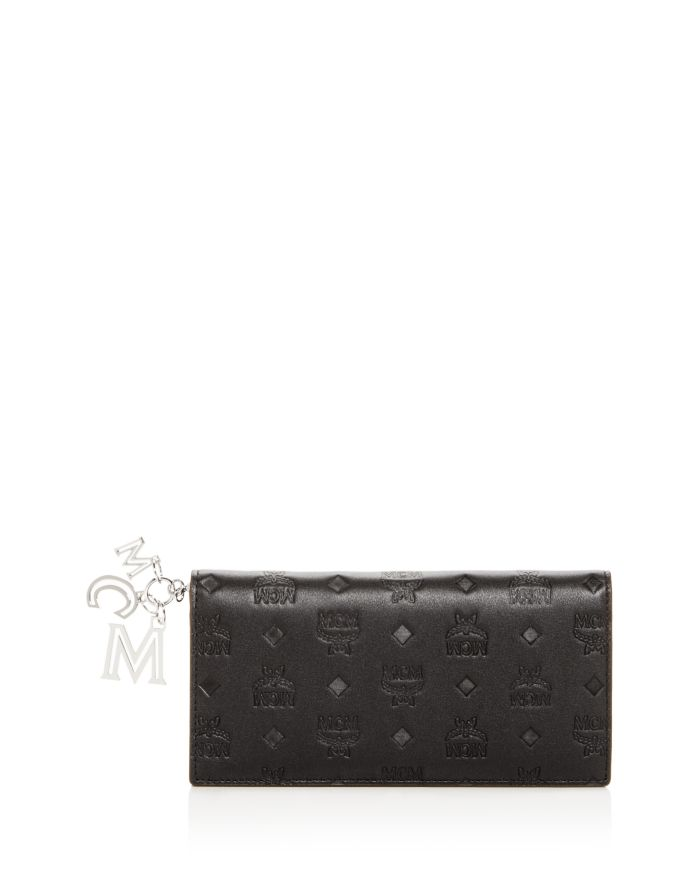 MCM Klara Logo Monogram Leather Continental Wallet    Bloomingdale's