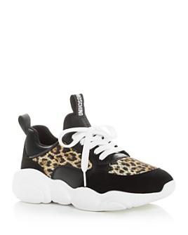Moschino - Women's Leopard-Print Low-Top Sneakers