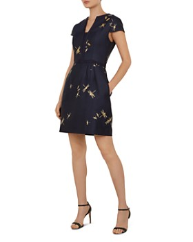 Ted Baker - Hartty Dragonfly Jacquard Dress