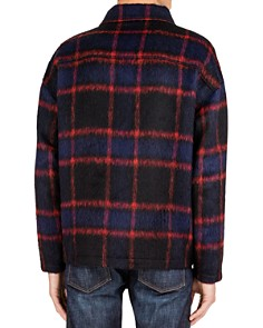 The Kooples - Iolanda Checked Oversized Fit Overshirt