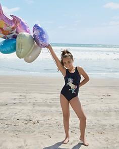 PilyQ - Girls' Unicorn One-Piece Swimsuit - Little Kid, Big Kid