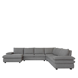 From Chateau d\\\'Ax, this sectional features wide ratchet arms and rounded lines that bring a versatile modern style to any interior.