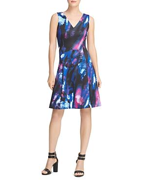 Donna Karan SEAMED FIT-AND-FLARE DRESS
