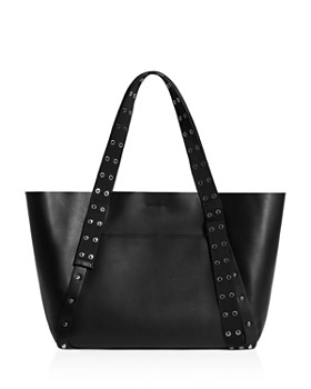 1ac89db09554 ... SALE  DISCOUNT APPLIED IN BAG. ALLSAINTS - Sid East West Grommet   Stud Leather  Tote ...