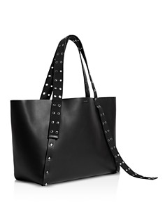 ALLSAINTS - Sid East West Grommet & Stud Leather Tote