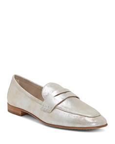 VINCE CAMUTO - Women's Macinda Metallic Leather Loafers