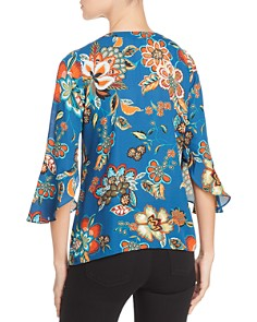 Status by Chenault - Floral Bell Sleeve Blouse
