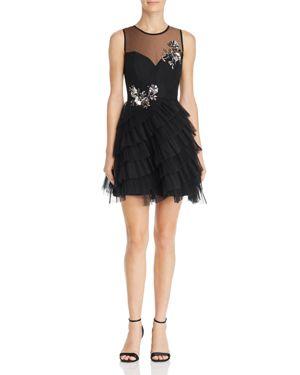 Bcbgmaxazria Eve Embellished Illusion Dress