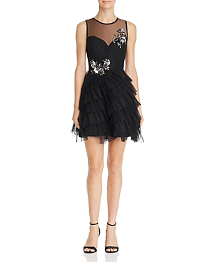 BCBGMAXAZRIA | Bcbgmaxazria Eve Embellished Illusion Dress | Goxip