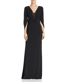 Adrianna Papell - Jersey Drape-Sleeve Gown