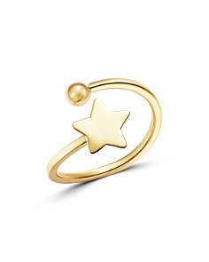 Moon & Meadow - Polished Star Open Ring in 14K Yellow Gold - 100% Exclusive