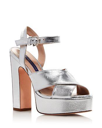Stuart Weitzman - Women's Joni Metallic Platform Sandals