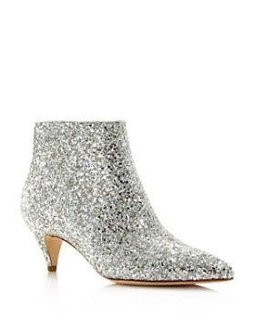 kate spade new york - Women's Stan Kitten Heel Glitter Booties