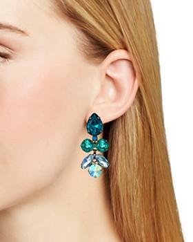 7fffec7f403445 Sorrelli - Crystal Lotus Flower Earrings Sorrelli - Crystal Lotus Flower  Earrings