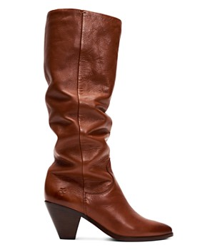 Frye - Women's Lila Leather Slouch High-Heel Boots