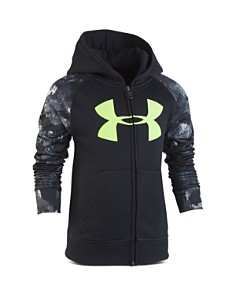 Under Armour - Boys' Bedrock Camo-Print Hoodie - Little Kid