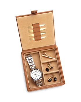 ROYCE New York - Leather Watch & Cufflink Travel Case