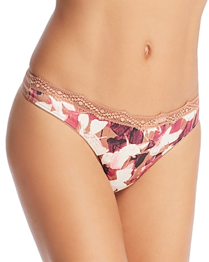 Calvin Klein Ck Black Nightshade with Lace Thong