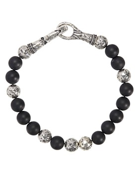 John Varvatos Collection - Sterling Silver & Onyx Bead Bracelet