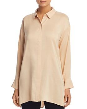 a537071e5a0 Eileen Fisher - Silk Button-Down Tunic ...