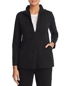 Eileen Fisher Petites - Stand Collar Zip Jacket