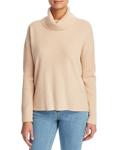 Eileen Fisher - Ribbed Cashmere Turtleneck Sweater