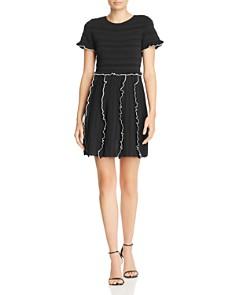 Parker - Lenny Ruffle-Trim Knit Mini Dress