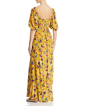 4f649abe7a3 ... Band of Gypsies - Madrid Smocked Floral-Print Maxi Dress